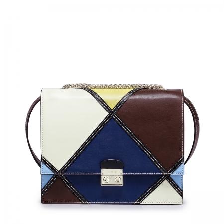 Дамска чанта Nucelle, Естествена кожа, Многоцветна