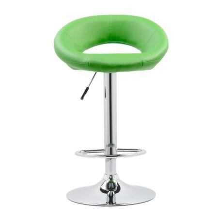 Бар стол Kring Inna, Хромиран, Екологична кожа, Зелен