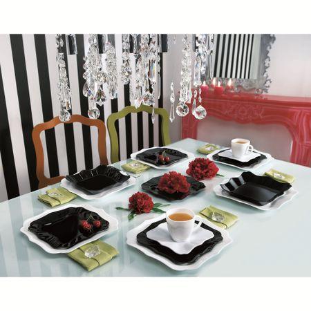 Сервиз за хранене Luminarc Authentic, 30 части, Бял/Черен