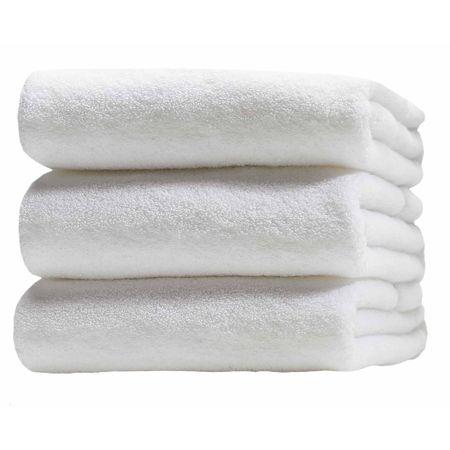Комплект от 3 хавлии Aglika, Бели, 50x90 cм