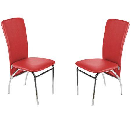 Комплект 2 стола за кухня/трапезария Kring Milano, Червен