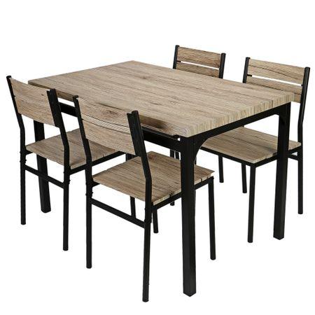 Комплект мебели за кухня/трапезария Kring Toscana, Маса с 4 стола, Бежови