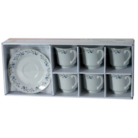 Комплект за кафе 12 чаши с чинийки Domotti, Irys 200 мл
