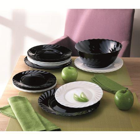 Комплект чинии Luminarc, 19 части, Черен/Бял
