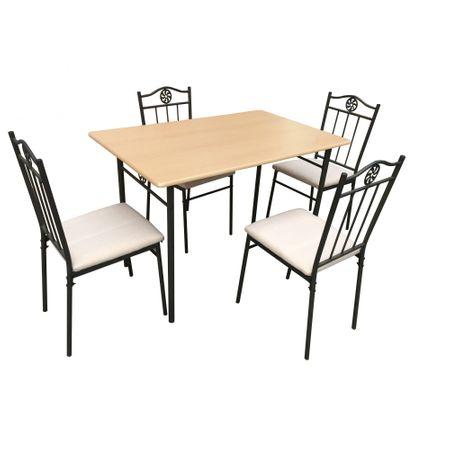 Комплект маса Victory Natur с 4 стола