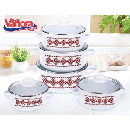 Комплект за готвене Vanora Banat, Емайлиран, 10 части