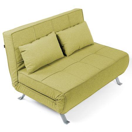Разтегателен диван Kring Lyle, 2 места, Текстил, 120x80-195x77 см, Зелен