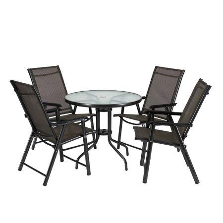 Комплект маса и столове Heinner, 5 части, Пластмаса