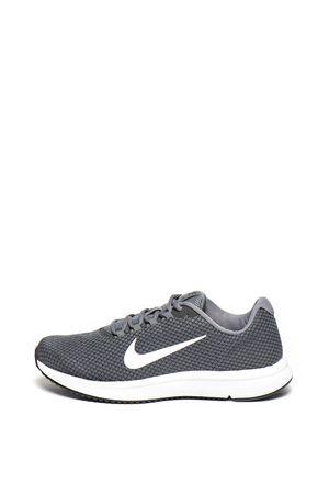 Nike, Обувки RUNALLDAY с лого, за бягане, Сив/Бял, 9.5