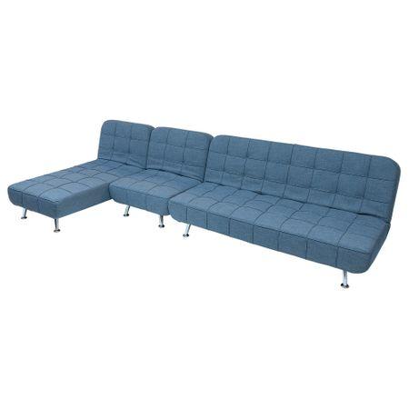 Разтегателен диван Kring Hyde, Модулен, 3 части, 182x88x84 см, Син