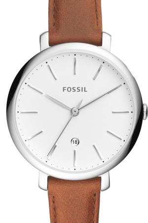 Fossil, Часовник Jacqueline с кожена каишка, Тъмнокафяв