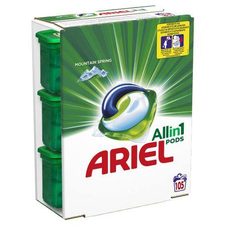 Капсули Ariel All in One PODS Mountain Spring, 3x35 броя, 105 изпирания