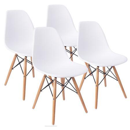 Комплект 4 стола Kring Ray, PP, Бял