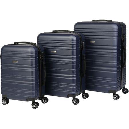 Комплект куфари KRING Lyon, ABS, 55 см + 65 см + 75 см, Navy