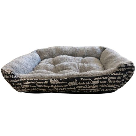 Легло за кучета и котки Mellow Mirto, 90x70x15, Текстил, Сиво