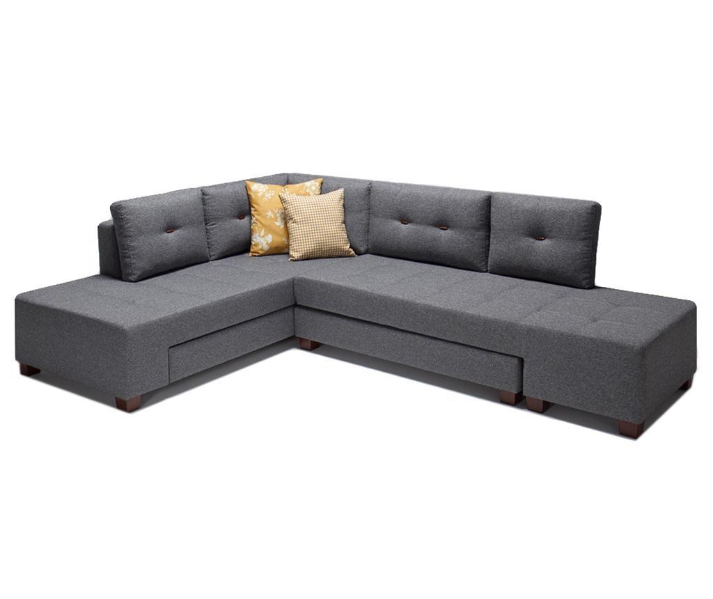 Разтегателен ляв ъглов диван Manama Grey