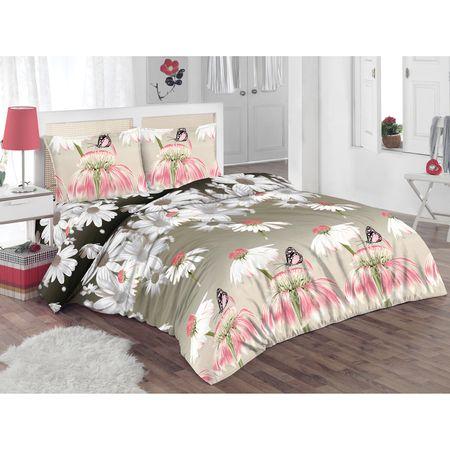 Спален комплект Kring Pastel, Памук, Цветен принт, Многоцветен