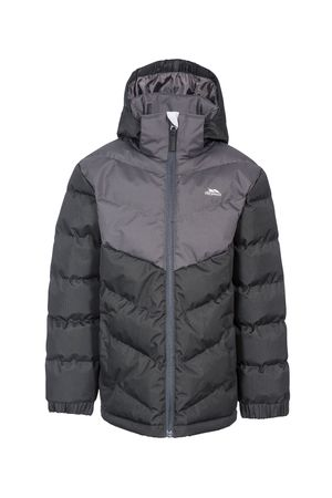 Trespass, Непромокаемо ветроустойчиво яке Luddi с качулка, Черен, 11-12Y Standard