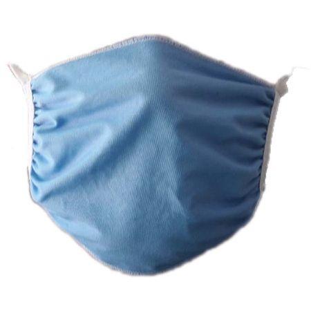 Хигиенна маска Whome, за многократна употреба, двупластова, 100% памук, син