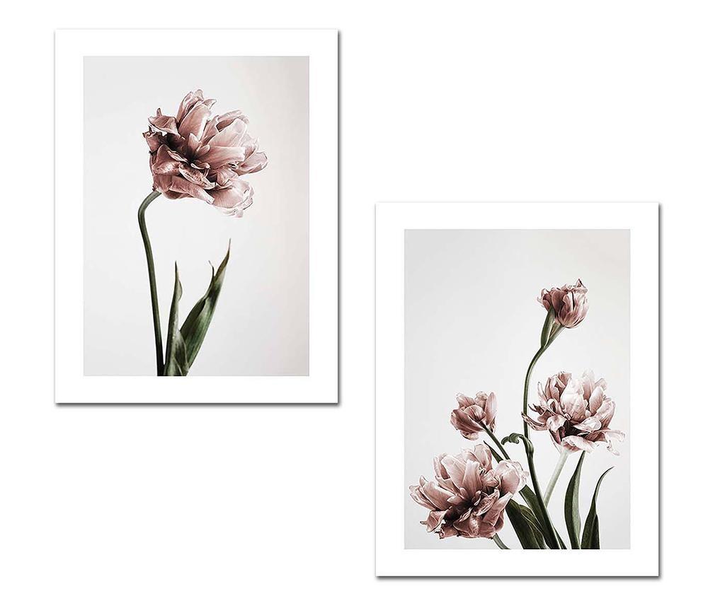 Комплект 2 картини Flowers 30x40 см