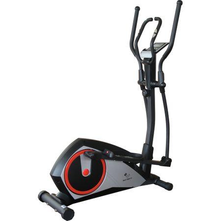 Кростренажор Karl Sports, Маховик 7 кг, Максимално допустимо тегло 120 кг, Черен/Сребрист