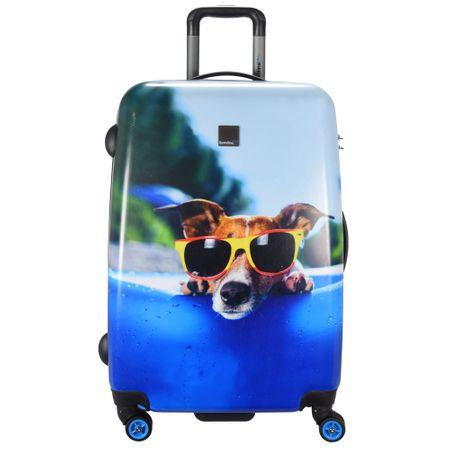 Куфар Saxoline Happy Dog, 60 см / M, Blue