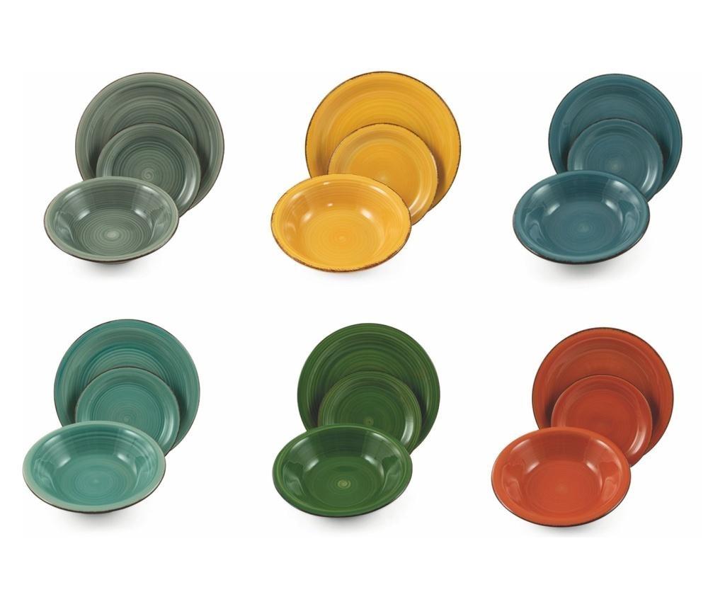 Сервиз за хранене 18 части Colors
