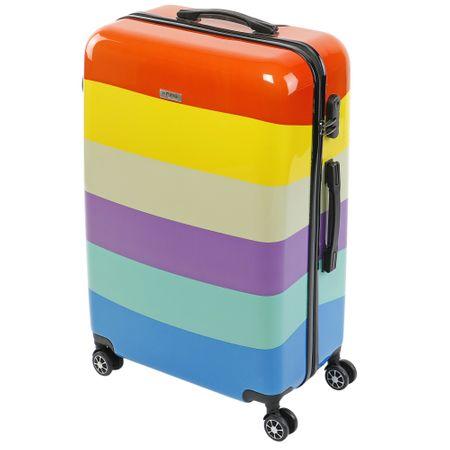 Куфар KRING Rainbow, ABS+PC, 75 см, Multicolor