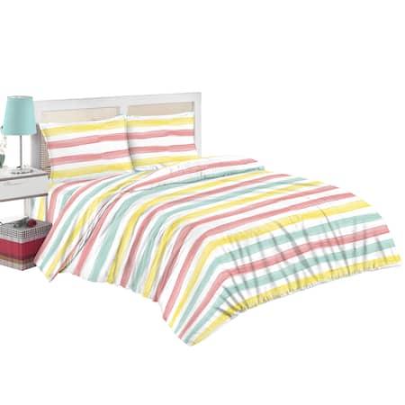 Спален комплект Kring Pastel, Памук, Пастелен принт, Многоцветен