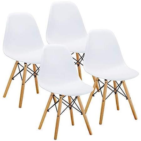 Комплект столове Dining Kring Kai, PP, 4 бр, Бял