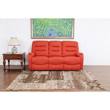 Диван Kring Sylvie Vive, 3 места, 2 регулируеми облегалки и 3 нива на комфорт, Оранжев, 193 x 100 x 101 см