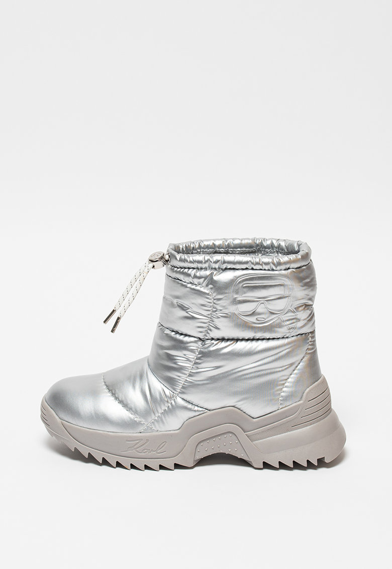 Karl Lagerfeld Боти Quest с метализиран ефект