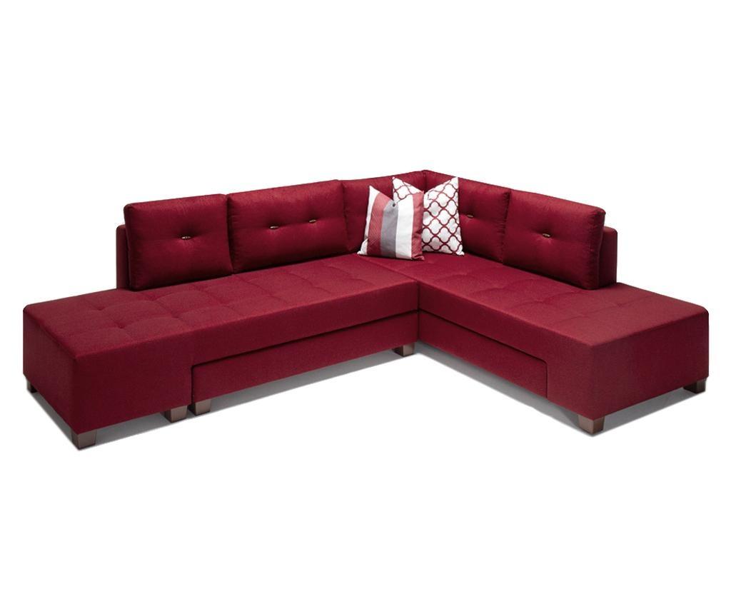 Разтегателен десен ъглов диван Manama Red