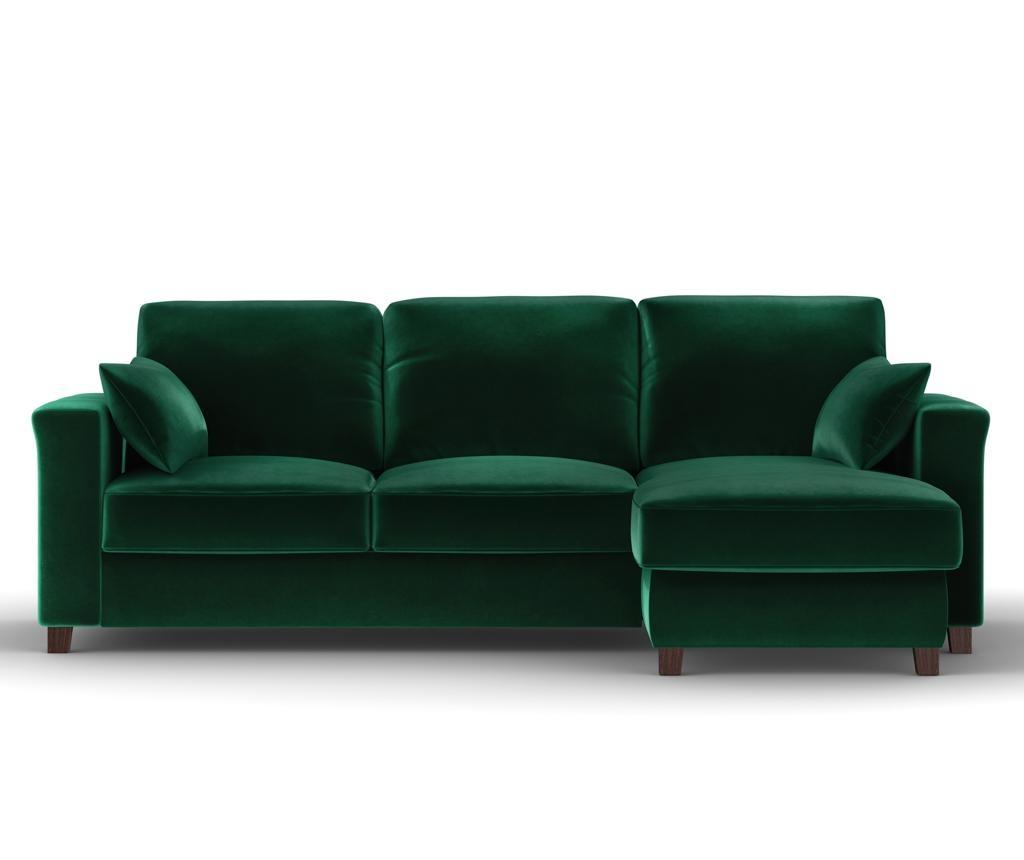 Разтегателен и обратим ъглов диван Relax Bottle Green