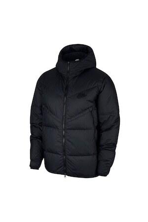 Nike, Пухено зимно яке Windrunner, Черен