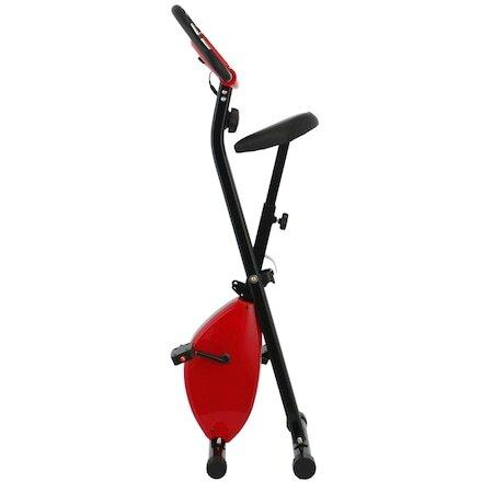 Велоергометър X-Bike BC-201, Сгъваем, Черен/Червен