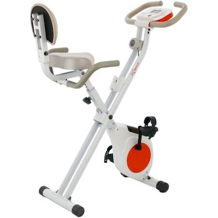 Велоергометър X-Bike BC-203, Сгъваем, Бял/Оранжев