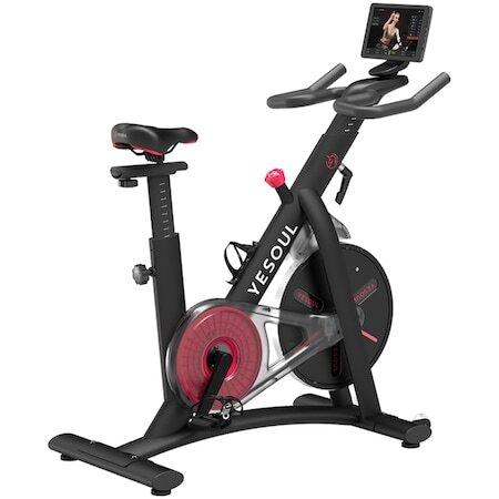 Велоергометър Yesoul S3 Pro, Smart, Магнитно съпротивление, Маховик 6 кг, Вluetooth, Максимално тегло на потребителя 120 кг, Черен